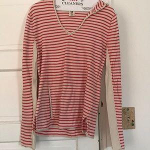 Roxy striped hooded sweater